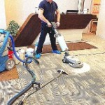 Office cleaning - deep floor cleaning